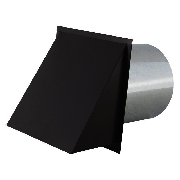 black wall vent cap