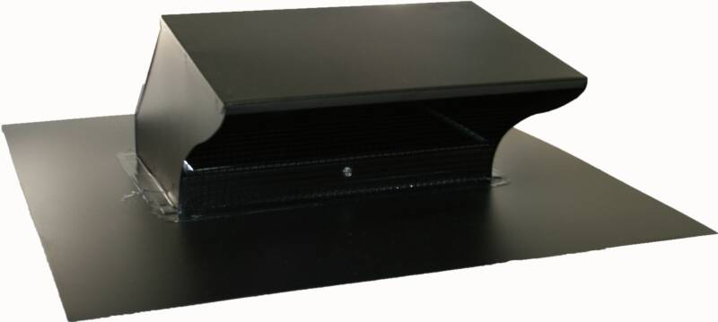 Black Roof Range Hood Vent Cover