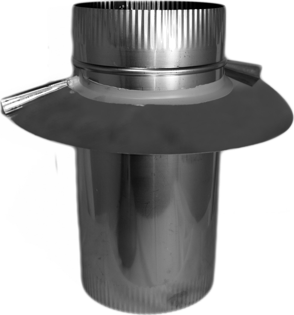 Double And Triple Wall Chimney Pipe Adapter Inserts Inside