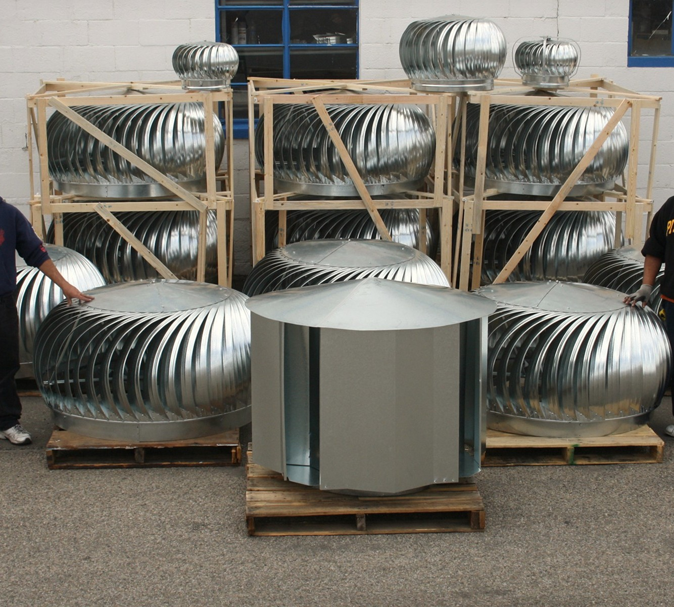 Industrial Roof Vents : Large commercial roof turbine vents