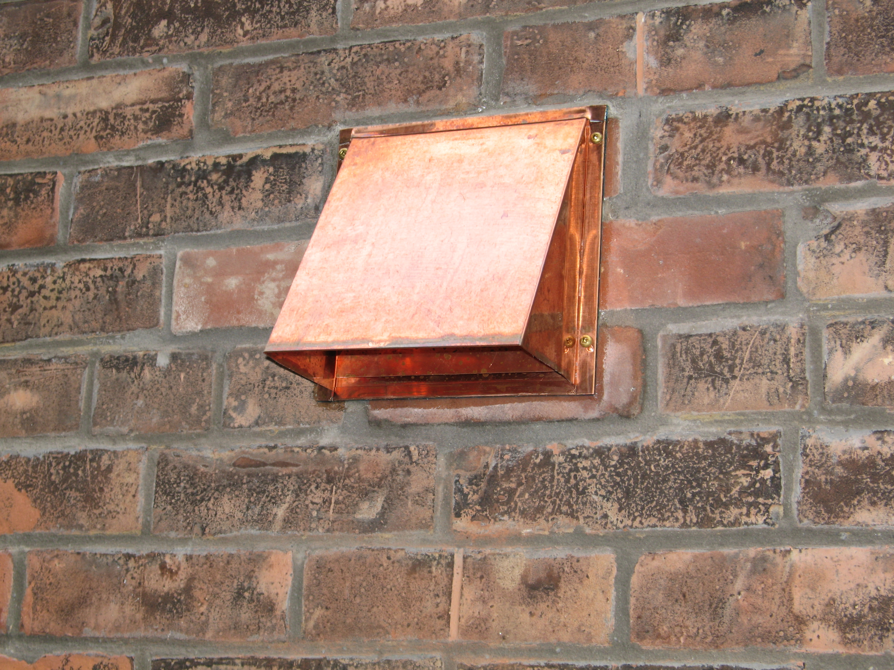 Copper Wall Range Hood Cap