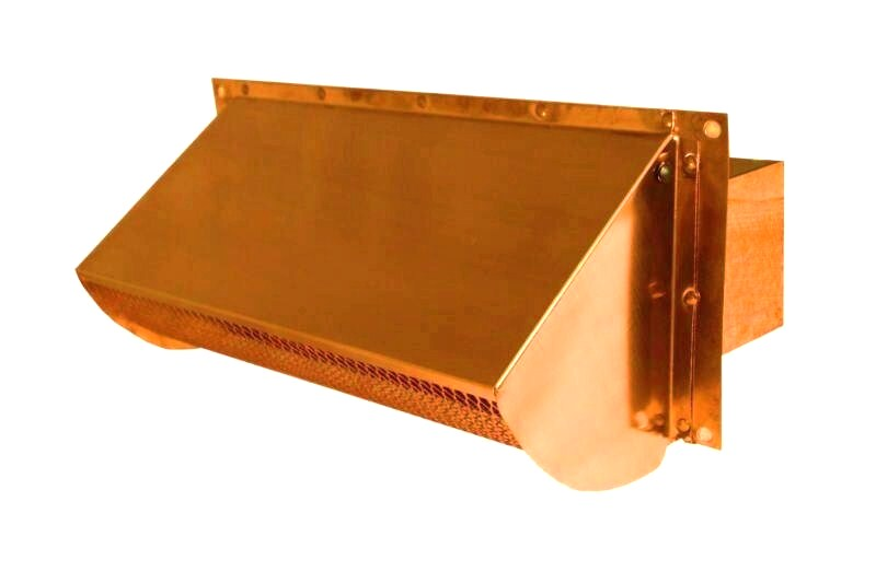 copper rectangular connect exhaust vent cap