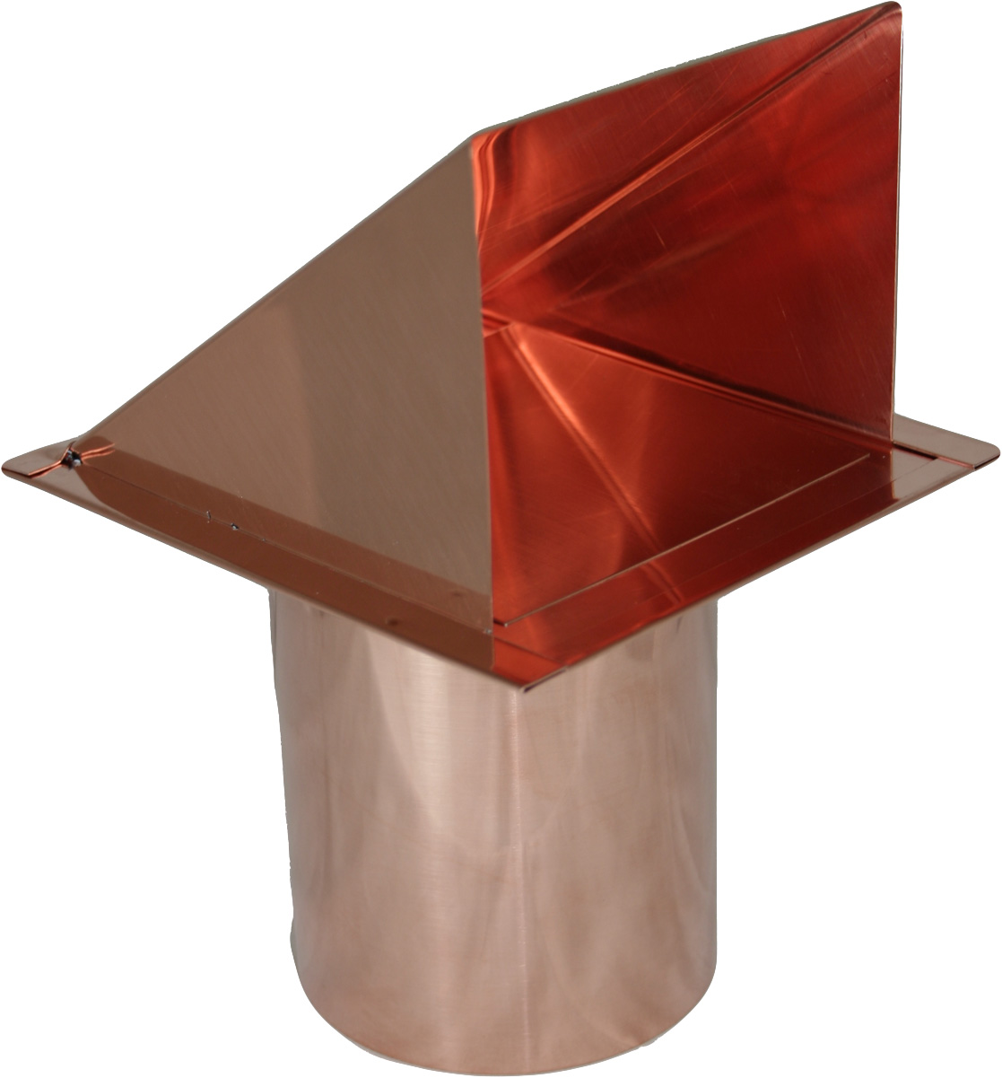 copper wall air intake vent with screen