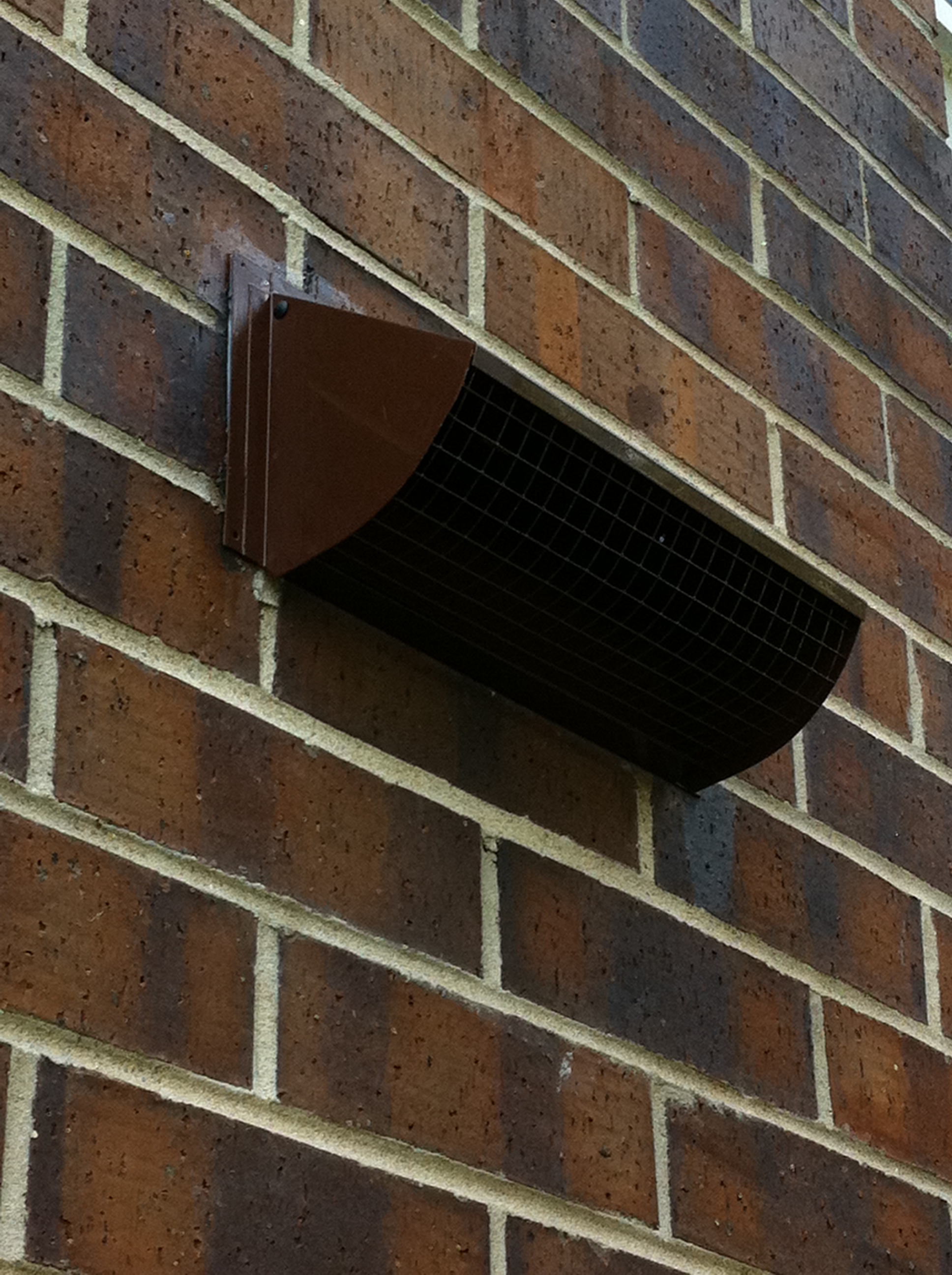 Outdoor Vent Covers >> custom powder coated wall vent to match brick