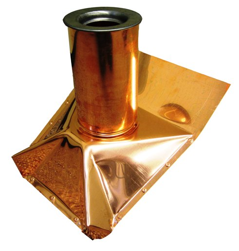 copper roof pipe boot flashing