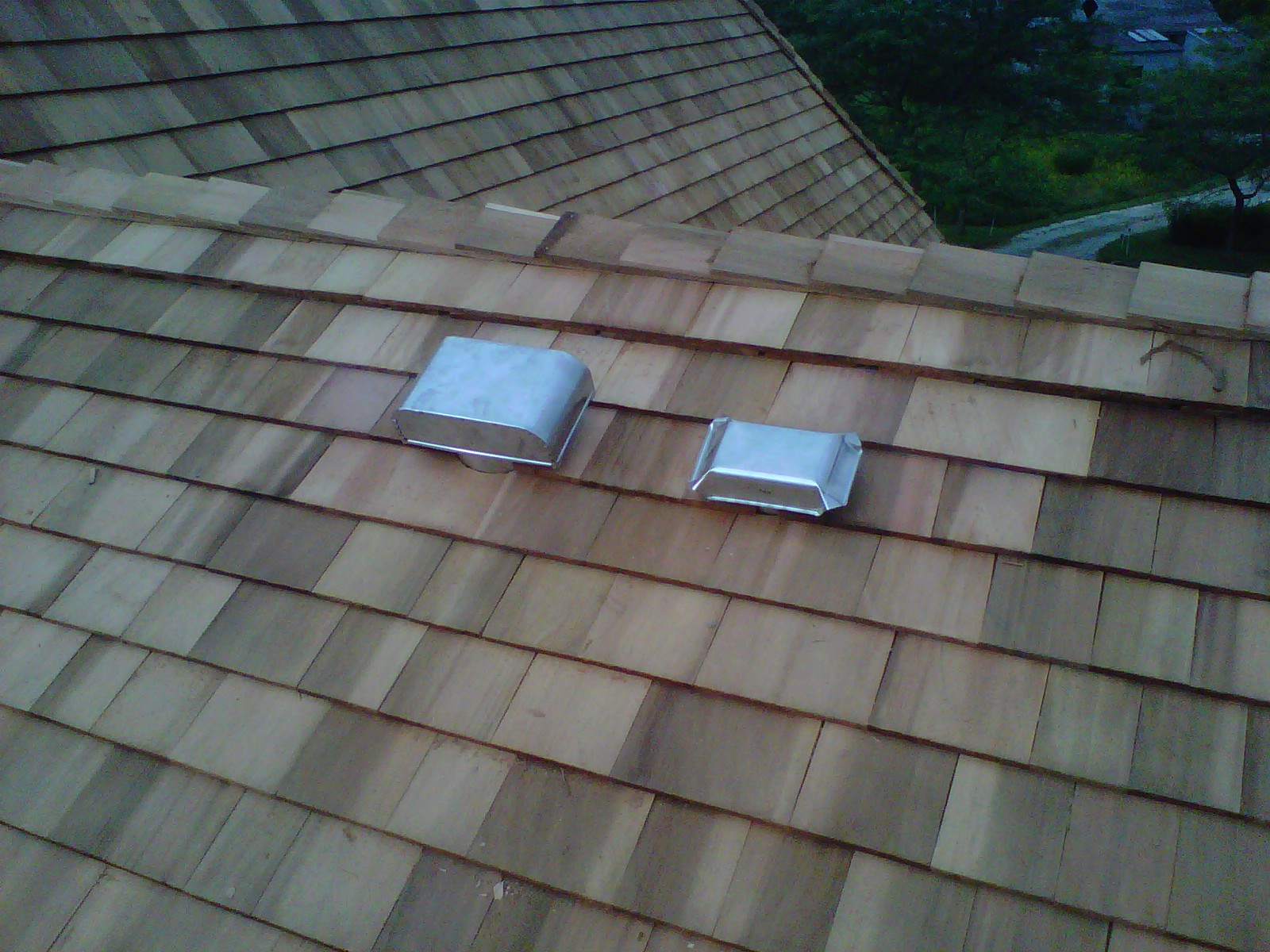 Stainless Steel Roof Vents On Shake Roof