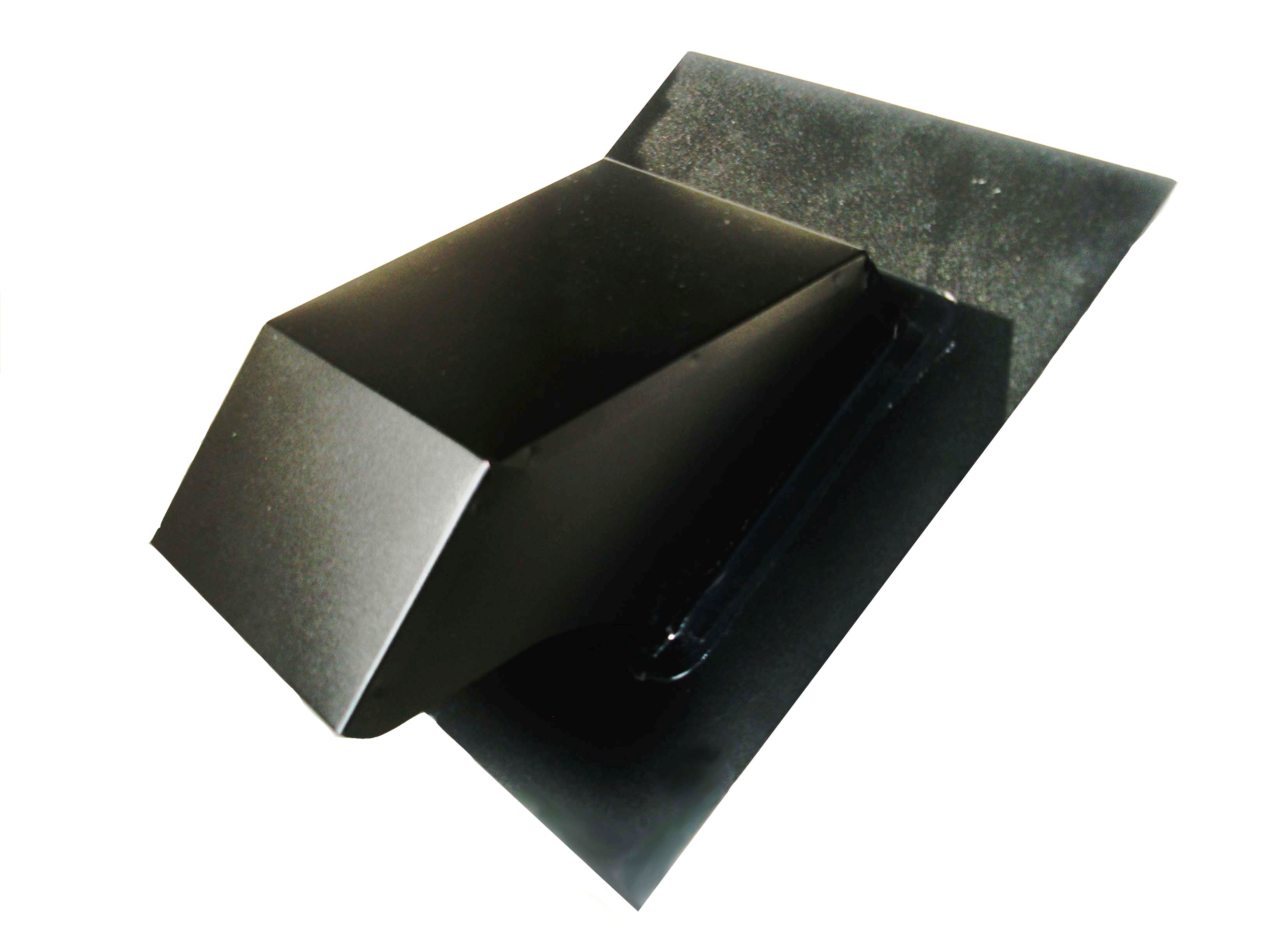 black metal bath roof vent