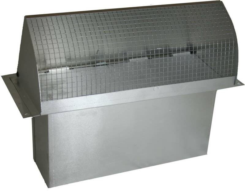 Rectangular Wall Vent With 3.25 X 10 Connection Duct