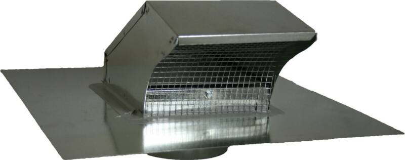goose neck roof vent cap with damper