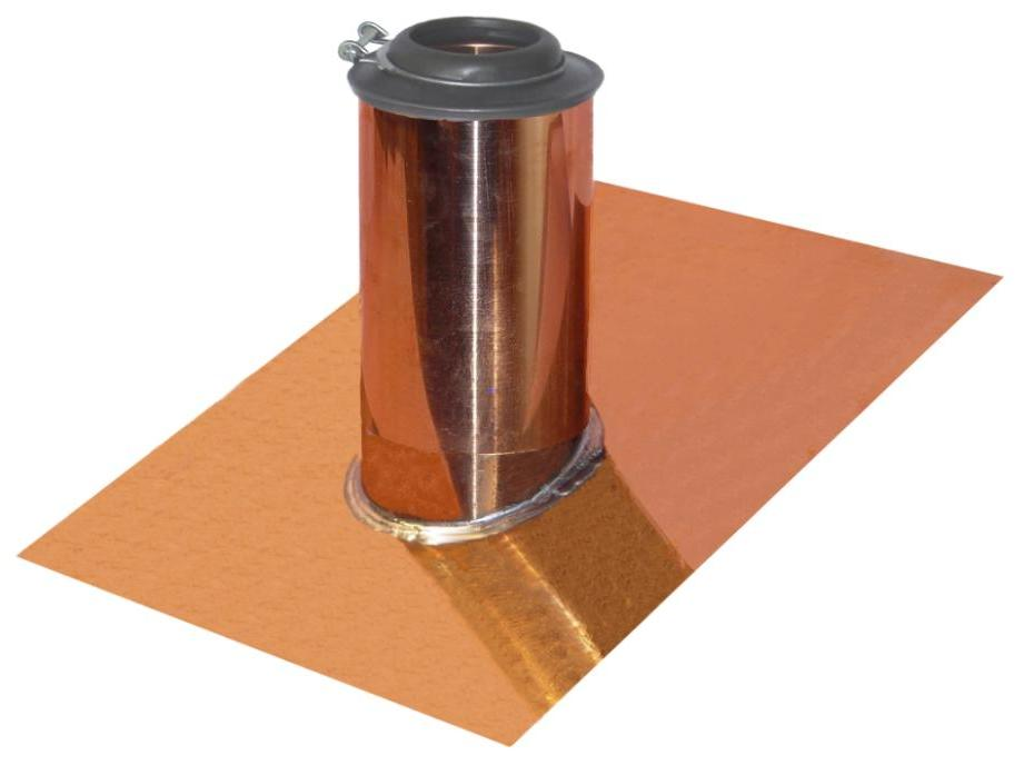 copper roof pipe boot cover