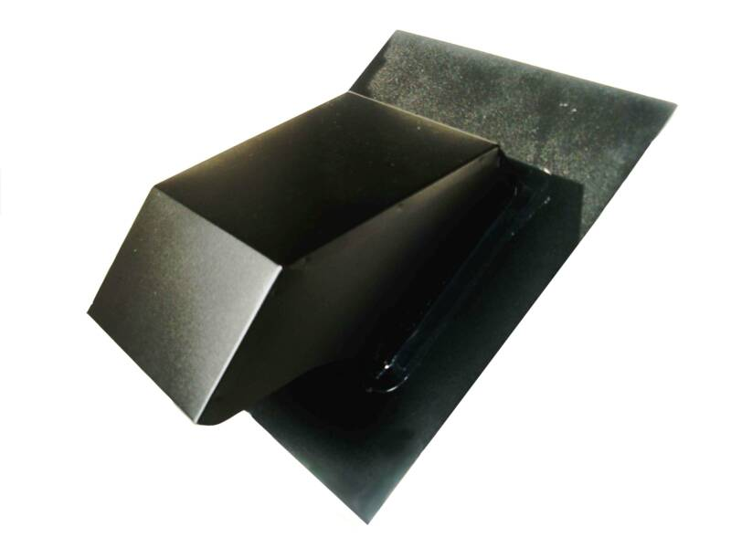 Black roof range hood vent cover for 3 bathroom vent cover