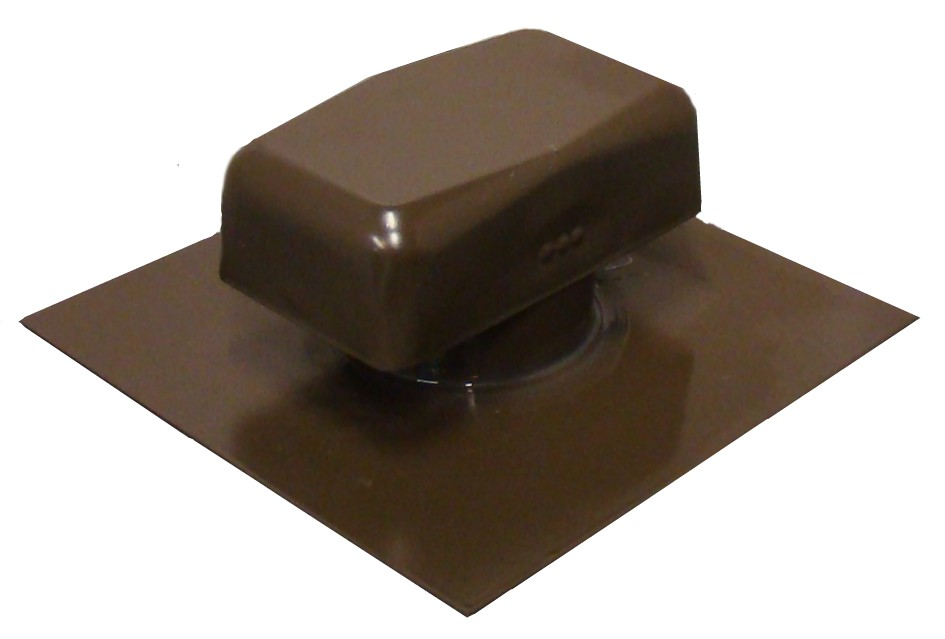 brown powder coated roof vent
