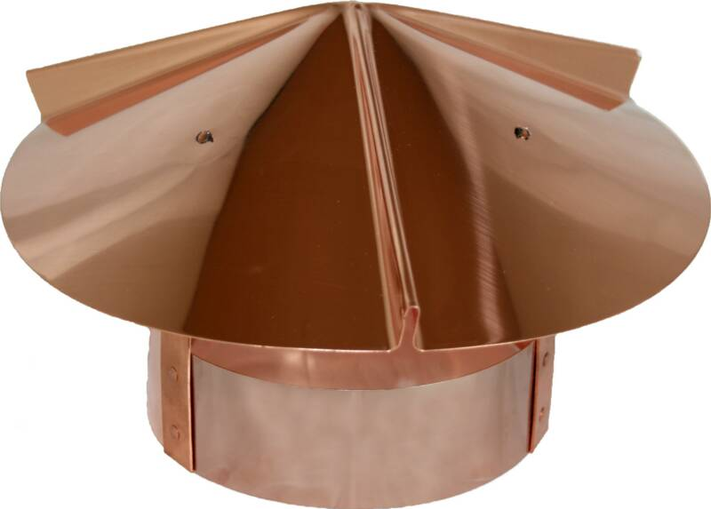Copper Cone Shanty Top for Round Connection