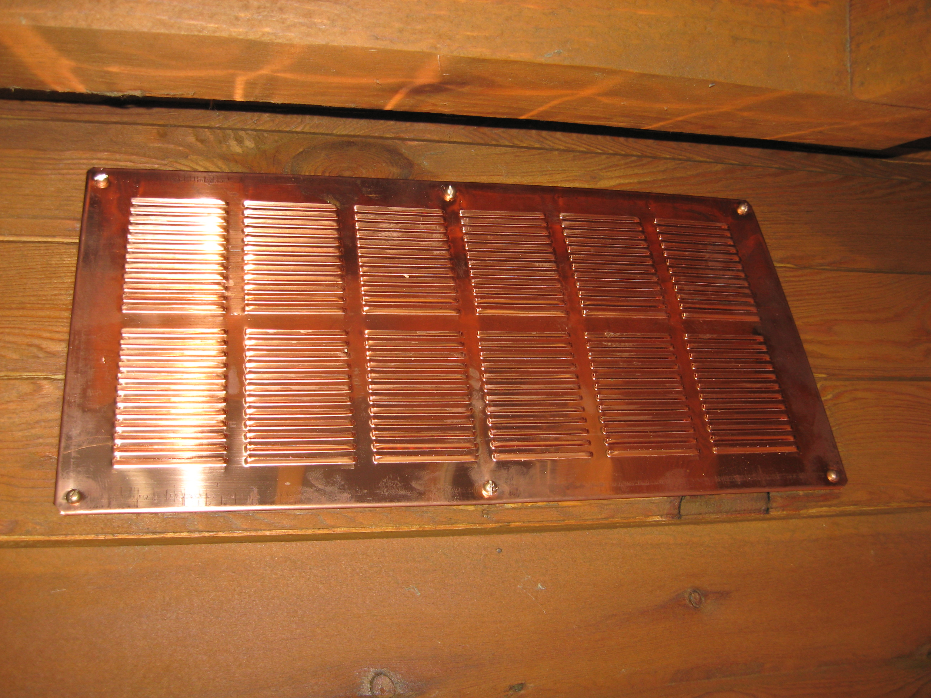 Copper Soffit or Foundation Vent