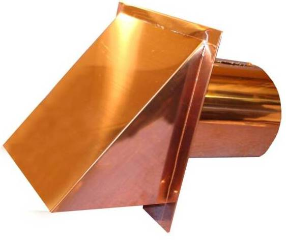 Copper exterior wall vent cover for Exterior vent covers
