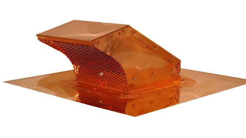 copper goose neck roof vent cap