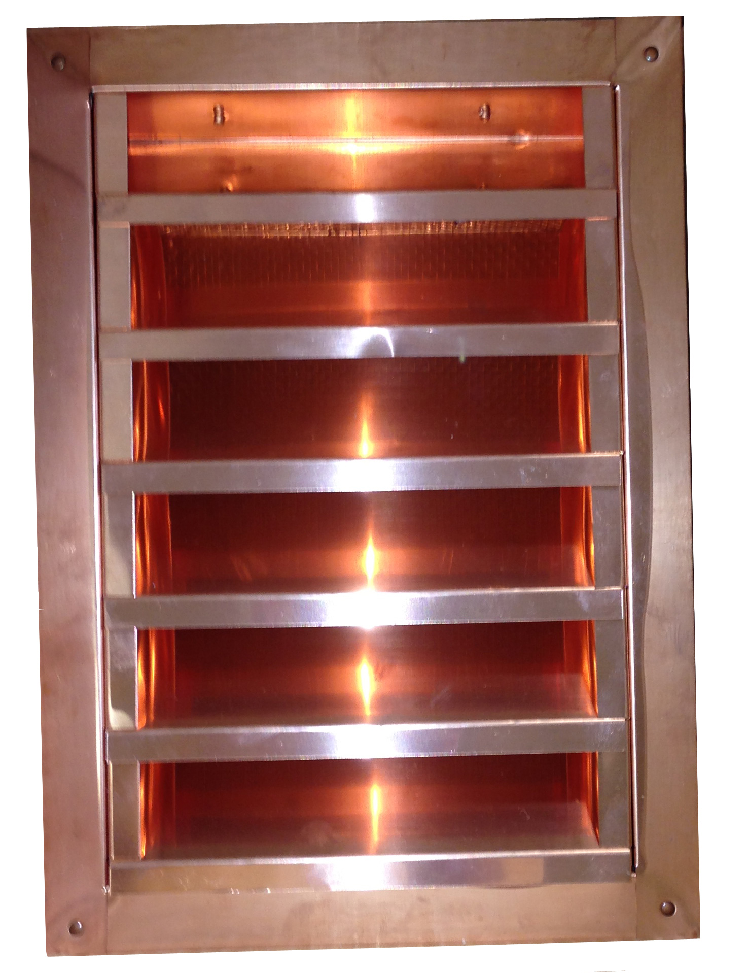 Copper Rectangular Gable End Vent with Louvers