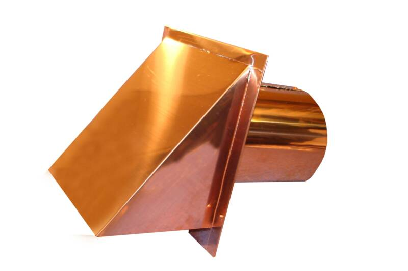 copper round connect wall vent cap