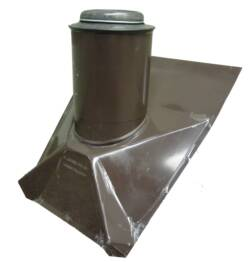 brown coated metal roof pipe boot with adjustable top