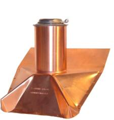 copper roof pipe boot vent cover