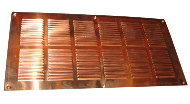 Rectangular Copper Eave or Soffit Vent