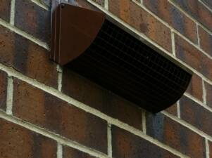 Attractive Custom Powder Coated Wall Vent To Match Brick