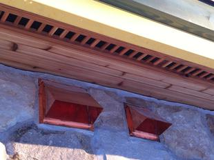 copper wall vents installed