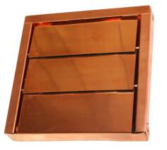 Low Profile Copper Louvered Exhaust Vent