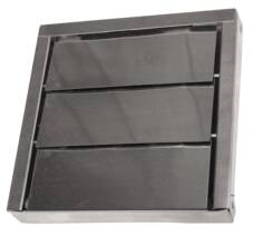 Low profile metal louver vent