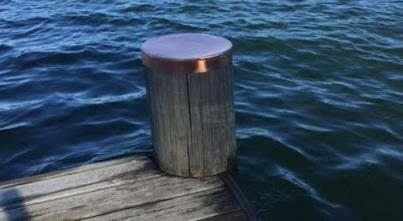 Protective Metal Dock Pile Caps