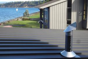 wind shielding chimney caps are perfect for windy coastal climates