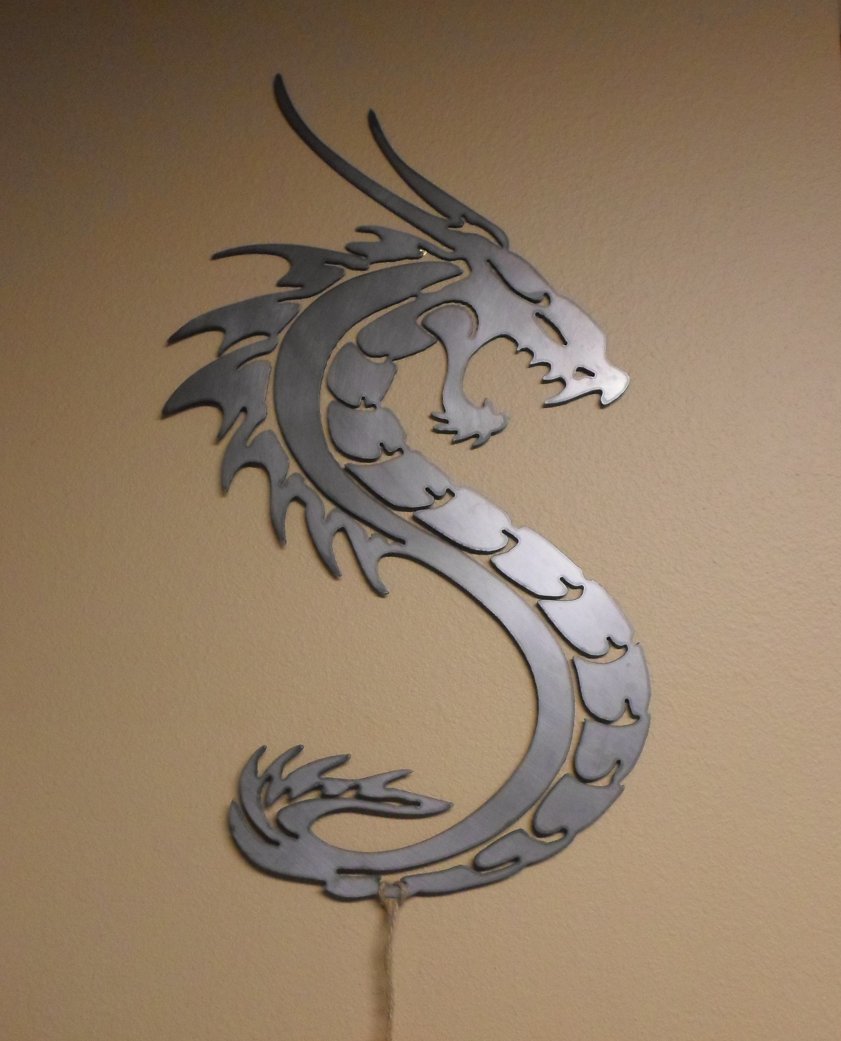 stainless steel dragon wall art