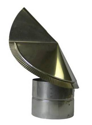 rotating wind directional chimney smoke blocker cap